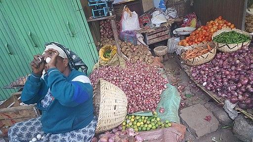 Ethiopian local market  in Addis Ababa